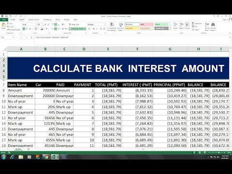 #40 (HINDI) CALCULATE INTEREST PRINCIPAL AMOUNT EXCEL