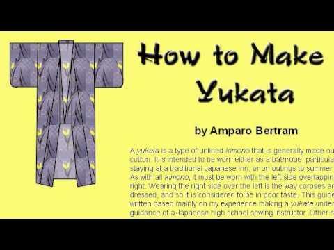 How-To Make A Men's Kimono