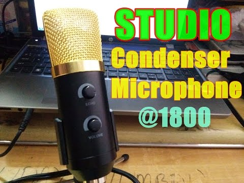 STUDIO Condenser Microphone BM 100 FX Unboxing and connecting to PC