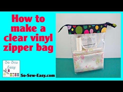 How to make Clear vinyl zipper bags