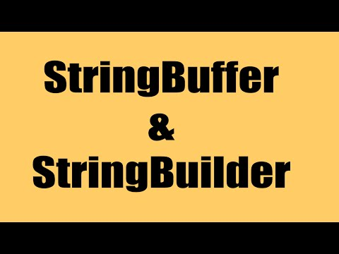 String Buffer and String Builder - Explained | Java9s.com