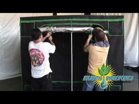 Large Hydroponic Grow Tent Setup