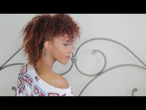 Dying Natural Hair Copper Red (w/ Balayage Technique) | Jasmine Defined