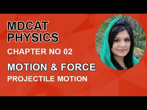 MDCAT Physics Lecture Series, Ch 2, Understand Projectile Motion, Physics Entry Test, ch 2