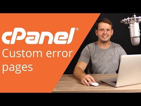 cPanel beginner tutorial 9 - Custom Error Pages