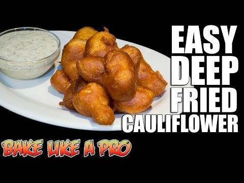 Easy Deep Fried Cauliflower Recipe Using Pancake Batter