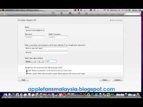 Create free mac app store account