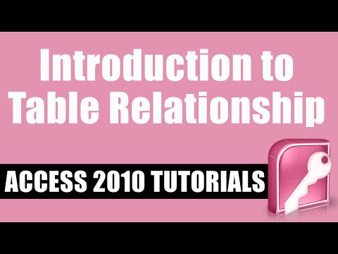 Introduction to Access 2010 Table Relationships