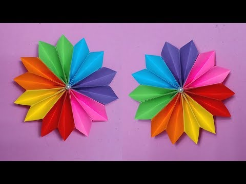 How to Make Easy Flower with Color Paper | Making Paper Flowers Step by Step | DIY-Paper Crafts