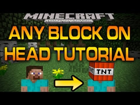 Minecraft Xbox 360 - ANY BLOCK ON HEAD TUTORIAL (How-To)