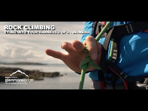 Rock Climbing - Tying into your harness 2 of 2 - Bowline