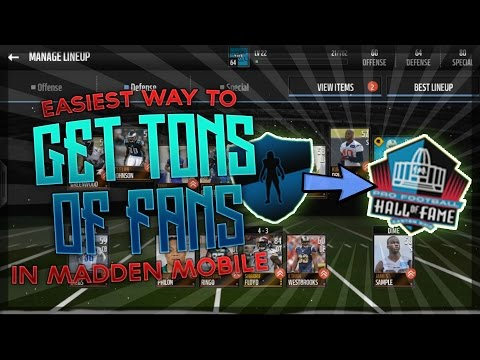 HOW TO EARN MILLIONS OF FANS IN HEAD TO HEAD - Madden Mobile 16