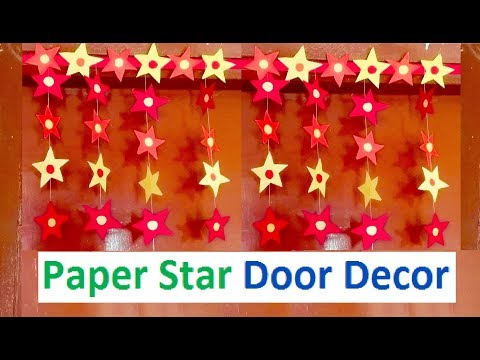 How to make Paper Star Door Decor | DIY Christmas Decoration craft
