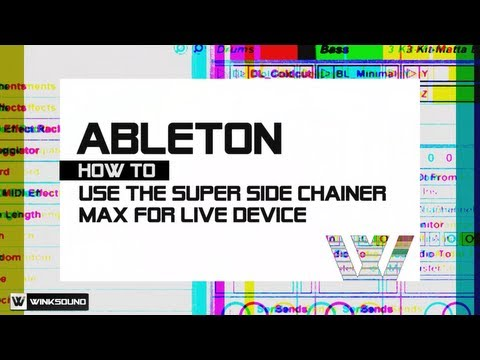 Ableton Live: Rock Star Relate Auto Sidechain Max for Live Device | WinkSound