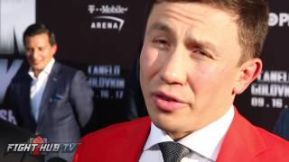 """Gennady Golovkin """"Saunders is nothing!"""" Talks if Canelo is too small to KO him!"""