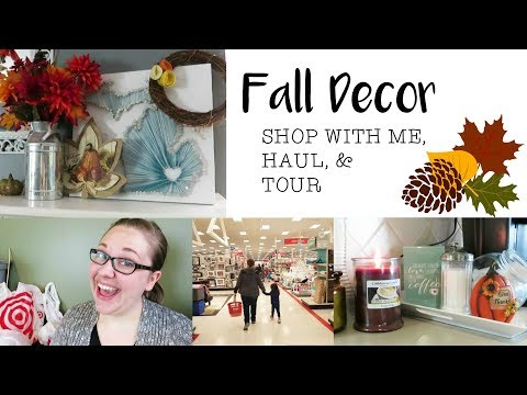 FALL DECOR 2017 | Shop With Me, Haul, & Tour!