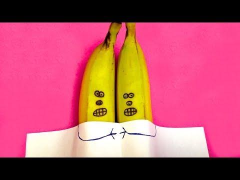 Comment Faire un Couple de Bananes Effrayées / Technique, Goûter pour les Enfants