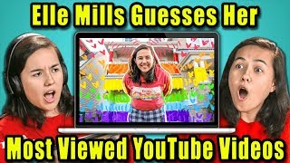 Do YouTubers Know Their Most Viewed Videos Of All Time? | Elle Mills