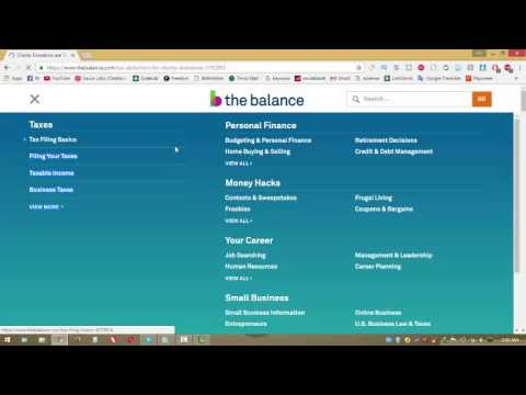 charitable donations tax online 2017