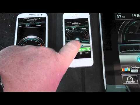Galaxy S III vs iPhone 5 LTE Speed Comparison