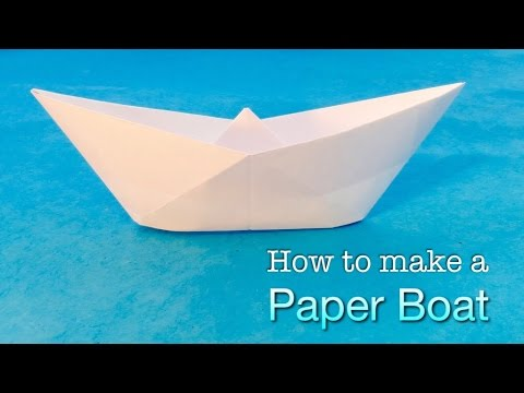 How to make a Paper Boat. Easy Origami Boat tutorial.