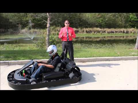 Electric Racing Bumper Kart - EXB Commercial Concession Kart for Sale by Bintelli Karts