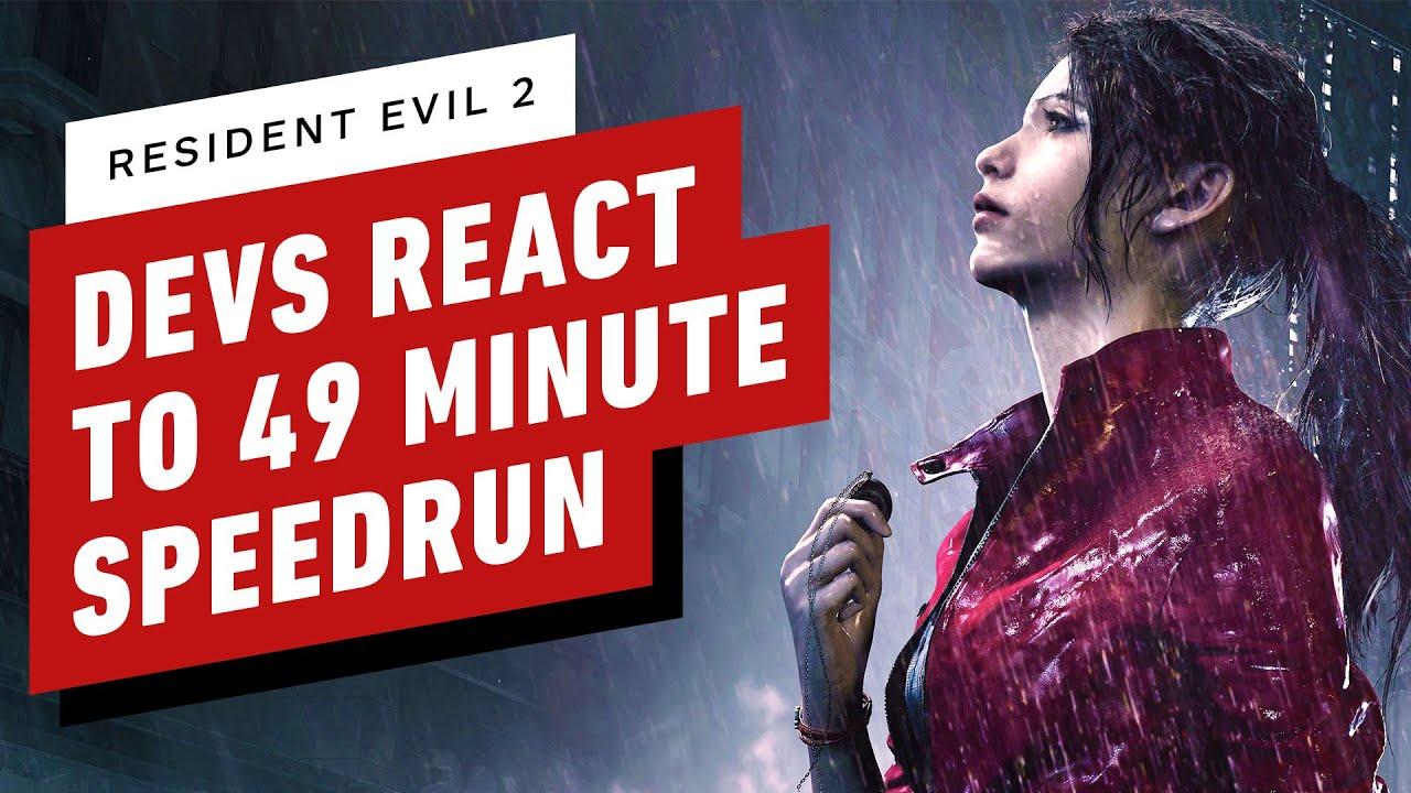 Resident Evil 2 Developers React to 49 Minute Speedrun