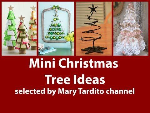 Unusual Mini Christmas Tree Ideas - Alternative Christmas Tree Ideas - Crafts to Make and Sell
