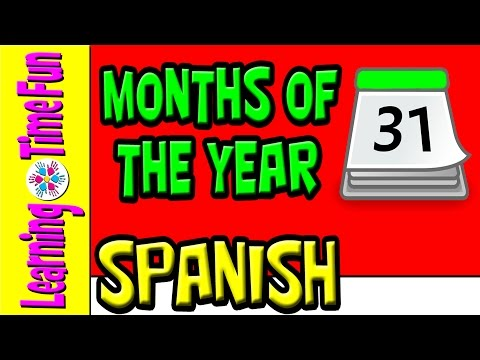 Months of the Year in Spanish for Kids | Meses para Niños | Easy Spanish | Spanish Fun