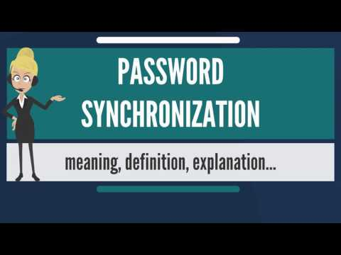 What is PASSWORD SYNCHRONIZATION? What does PASSWORD SYNCHRONIZATION mean?
