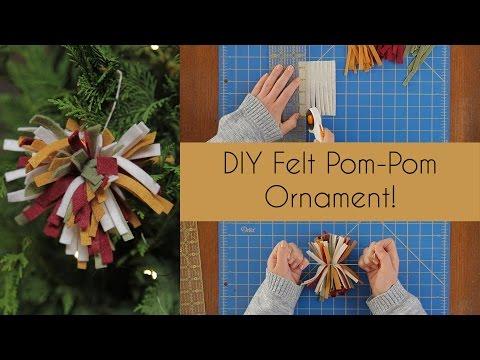 DIY Felt Pom-Pom Ornament
