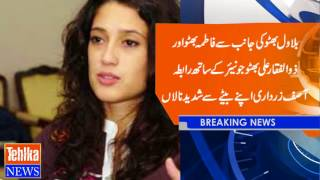 Differences with Bilawal Bhutto and Asif Ali Zardari on contacting with Fatima Bhutto