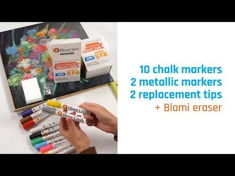 How to use Blami Chalk Markers 12 set