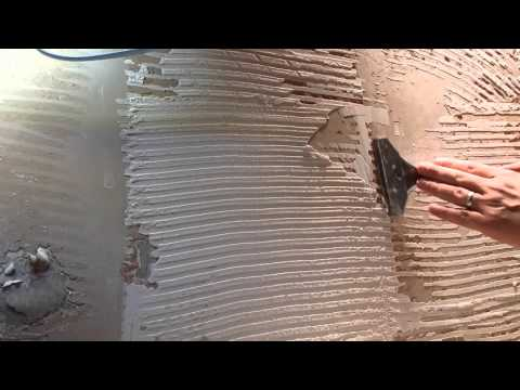 How to remove tile adhesive from plasterboard walls.