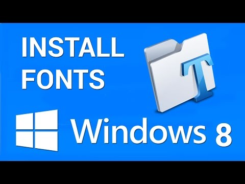 How to install Fonts in Windows 8