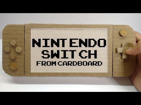 Nintendo Switch | How To Make Cardboard Nintendo Gameboy Replica | Nintendo Labo