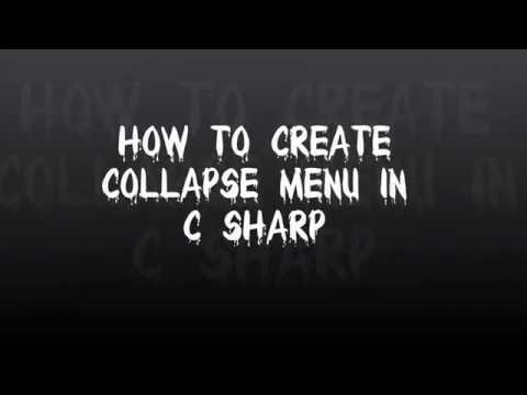 Collapse Menu in c#