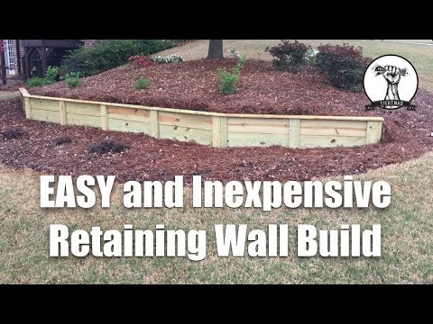 Building an Easy and Inexpensive Retaining Wall