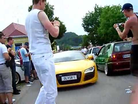 Wörthersee Tour Reifnitz Audi R8 vs Porsche Turbo Sound Check GTI-Treffen