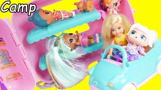 Download LOL Surprise Dolls Chelsea Family Babysit Barbie Camper in Goldie house Video