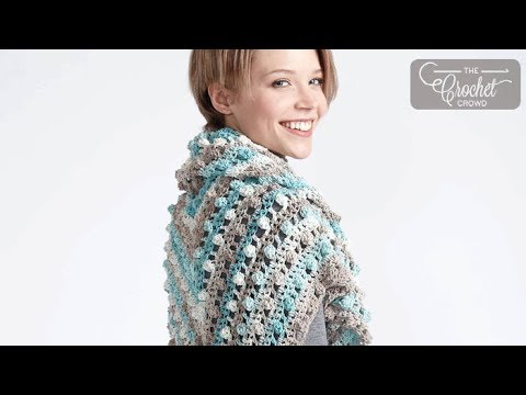 How to Crochet Caron Cotton Cakes Shawl: Make a Point Shawl