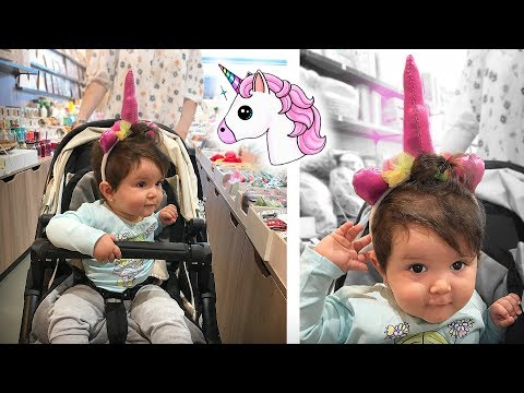 BEBÊ LAURA UNICORNIO!! 🦄 Daily Vlog Brancoala - Rotina em Familia
