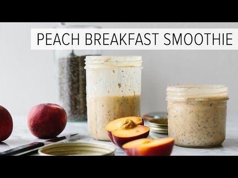 PEACH BREAKFAST SMOOTHIE | with chia = best breakfast smoothie