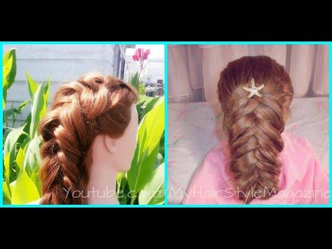 Fishtail Dutch Braid Beach Bridal Wedding Hairstyle For Long Hair Tutorial