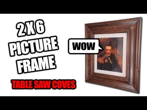 How to Make a Picture with Frame (With Coves) out of 2x6 Dimensional Lumber