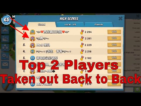 Boom Beach - The top Global #1 & Global #2 taken down back to back with just 3 offense 5 crystals!