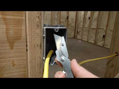How To Strip or Remove Cable Sheathing From Romex Using a Utility Knife - Rough In