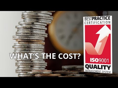 HOW MUCH DOES IT COST TO GET ISO 9001 CERTIFIED?
