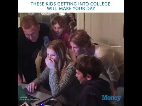 These Videos of Kids Getting Accepted Into College Will Make Your Day ❤️