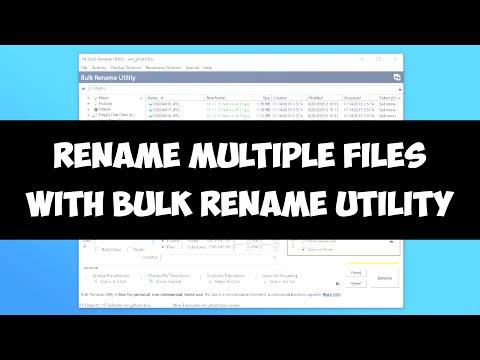 Rename multiple files on Windows with Bulk Rename Utility
